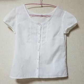 ユニクロ(UNIQLO)のユニクロ 白ブラウス(シャツ/ブラウス(半袖/袖なし))