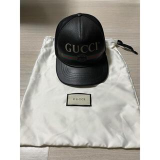 グッチ(Gucci)のGUCCI レザーメッシュキャップ(キャップ)