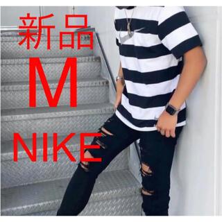 NIKE - 新品 NIKE ナイキ スウォッシュ ボーダーTシャツ  M