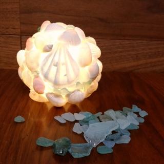 貝殻ライト 貝殻ランプ シーグラス 貝殻 夏 ブライダル ウェルカムボード