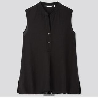 ユニクロ(UNIQLO)のUNIQLO リネンブレンドスキッパーシャツ(シャツ/ブラウス(半袖/袖なし))