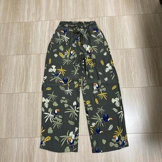 DOUBLE STANDARD CLOTHING - ダブスタ バード柄 リラックスパンツ