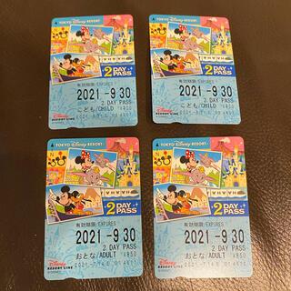 ディズニー(Disney)のディズニーリゾートライン 2DAY PASS フリー切符(その他)