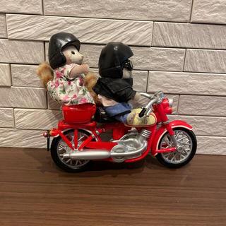 エポック(EPOCH)のあらいぐま バイク サイドカー シルバニア(ぬいぐるみ/人形)
