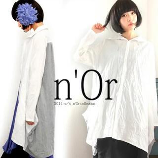 『定価4950円 n'Orしわ加工ロングシャツ』オシャレウォーカー