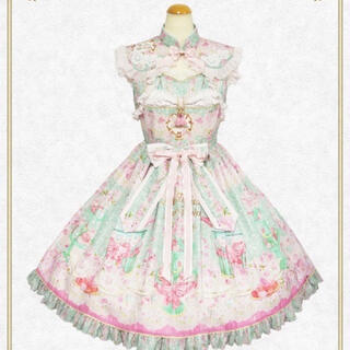 BABY,THE STARS SHINE BRIGHT - SA・KU・SAKURA Cafe à la mode柄 ジャンパースカート