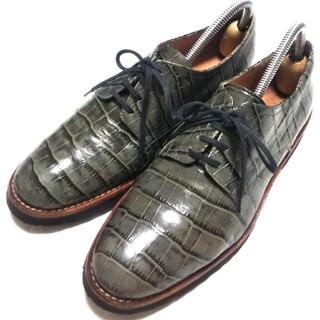 ファビオルスコーニ(FABIO RUSCONI)の美品  FabioRusconi  型押し  レースアップシューズ(ローファー/革靴)