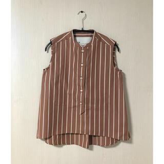 ユナイテッドアローズ(UNITED ARROWS)の未使用 TICCA ティッカ ストライプ バンドカラーシャツ(シャツ/ブラウス(半袖/袖なし))