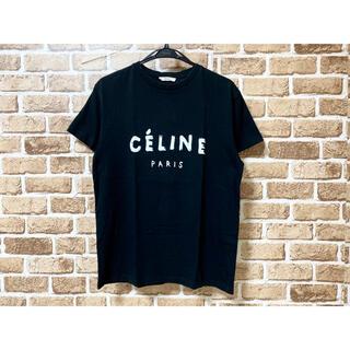 セリーヌ(celine)のセリーヌ CELINE フロント新作ロゴTシャツ S 黒 ブラック 国内正規品(Tシャツ/カットソー(半袖/袖なし))