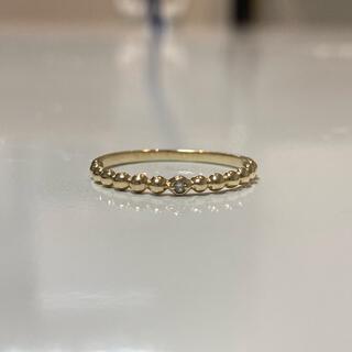 ジュエリーツツミ(JEWELRY TSUTSUMI)のK10YG 一粒ダイヤ つぶつぶリング 13号(リング(指輪))