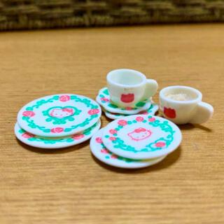 ハローキティ(ハローキティ)のレア★ハローキティリトルベリーコレクション★食器セット(ぬいぐるみ/人形)