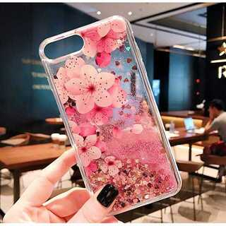 キラキラ グリッター iPhoneケース 桜 ピンク ラメ