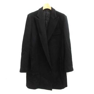 ヨウジヤマモト(Yohji Yamamoto)のヨウジヤマモト チェスターコート アウター ロング ミドル ウール 2 M 黒(その他)