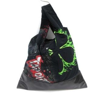 ブラックコムデギャルソン(BLACK COMME des GARCONS)のブラックコムデギャルソン ビンテージTシャツ使用のトートバッグ ショルダー 黒(トートバッグ)