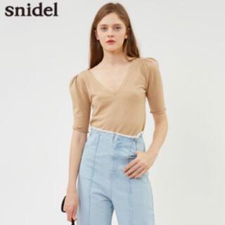 snidel - スナイデル   snidel ダーツスリーブVネックニットプル