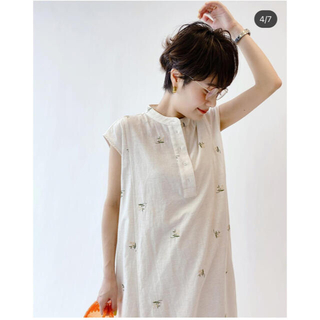 Spick and Span - embroidery dress2    ロングワンピース