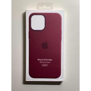 Apple - 【新品】純正 iPhone 12 Pro Max シリコンケース・プラムda