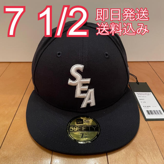 NEW ERA(ニューエラー)の7 1/2 WIND AND SEA NEW ERA CAP ネイビー メンズの帽子(キャップ)の商品写真