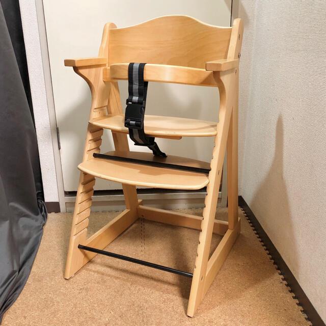KATOJI(カトージ)のカトージ  プレミアムベビーチェア 木製ハイチェア   ベビーチェア ハイチェア キッズ/ベビー/マタニティの寝具/家具(その他)の商品写真