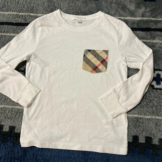 バーバリー(BURBERRY)のバーバリー☆白 ロンT 8 128(Tシャツ/カットソー)