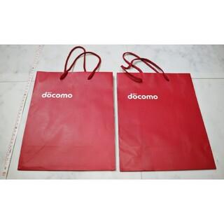 エヌティティドコモ(NTTdocomo)のdocomo ドコモ ショッパー 紙袋 2点(ラッピング/包装)