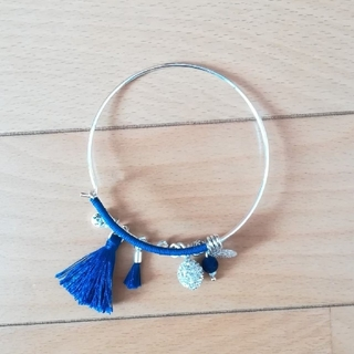 ZARA - 新品 青のバングル ブレスレット