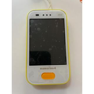 エーユー(au)のau マモリーノ4 黄色 イエロー キッズ携帯 キッズフォン(スマートフォン本体)
