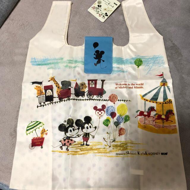 Disney(ディズニー)のミッキー&ミニー遊園地柄♪エコバッグ レディースのバッグ(エコバッグ)の商品写真