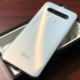 エルジーエレクトロニクス(LG Electronics)の新品同様| LG K61 128GB|SIMフリー|ホワイト(スマートフォン本体)