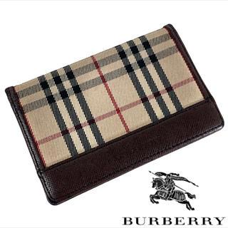 バーバリー(BURBERRY)のノバチェック BURBERRY 名刺入れ カードケース(名刺入れ/定期入れ)