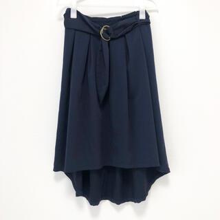 オリーブデオリーブ(OLIVEdesOLIVE)の【美品】OLIVE des OLIVE / フィッシュテールスカート ネイビー(ひざ丈スカート)
