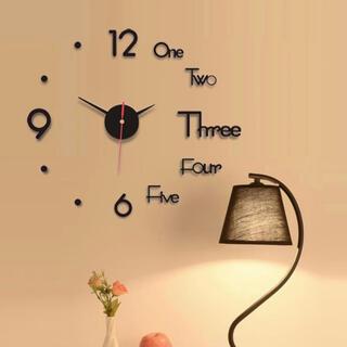 ウォールステッカー時計 * お洒落な壁時計 ウォールクロック【フォロー割】