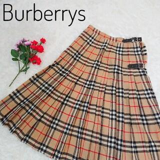 バーバリー(BURBERRY)のバーバリー BURBERRY ノバチェック 巻きスカート ラップスカート 英国製(ひざ丈スカート)