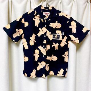 ピンクハウス(PINK HOUSE)のピンクハウス キューピー 黒 アロハ シャツ サイズLL(シャツ/ブラウス(半袖/袖なし))
