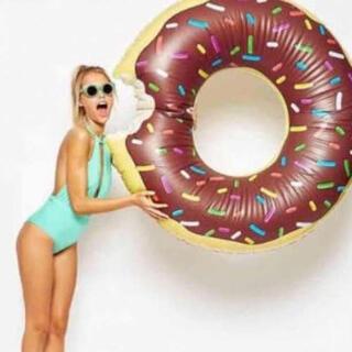 ドーナツ 浮き輪ドーナッツ型 かわいい ブラウン 100センチ(その他)
