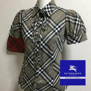 BURBERRY BLUE LABEL - Burberry☆リボン付☆シャツ・ブラウス36
