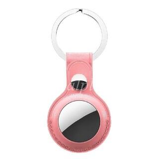 airtag エアタグ レザーケース キーリング ピンク アップル Apple(その他)