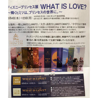 ディズニープリンセス展 名古屋タカシマヤ 招待券&割引券(その他)