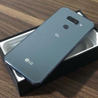 エルジーエレクトロニクス(LG Electronics)の新品同様| LG Q70 64GB|SIMフリー|ブラック(スマートフォン本体)