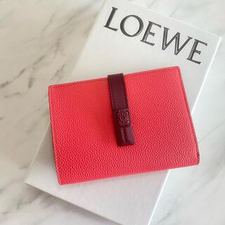 LOEWE - ラスト1【新品】LOEWE ヴァーティカル ミディアム ウォレット 二つ折り財布