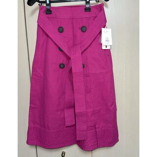 マーキュリーデュオ(MERCURYDUO)の新品タグ付◆MERCURYDUO◆トレンチスカート(ひざ丈スカート)
