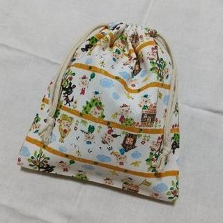 巾着袋 W約19.5cm☓H約22.5cm 給食袋などにも(バッグ/レッスンバッグ)