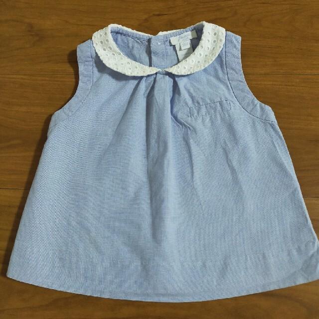 Jacadi(ジャカディ)のjacadi ジャガディ ブラウス チュニック 襟付き 18M/81cm キッズ/ベビー/マタニティのベビー服(~85cm)(ワンピース)の商品写真