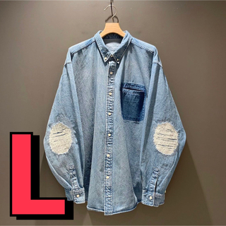BEAMS - XLサイズ BEAMS SSZ 裏USED デニムシャツ
