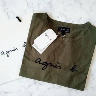 agnes b. - 新品★アニエスベー半袖ロゴレディースTシャツ カーキ