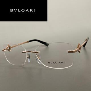 ブルガリ(BVLGARI)のメガネ ブルガリ ゴールド ブラック クリスタル ツーポイント 黒 金 豪華(サングラス/メガネ)