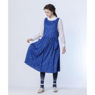 ジェーンマープル(JaneMarple)のjane marple Take a little trip エプロン ドレス(ひざ丈ワンピース)