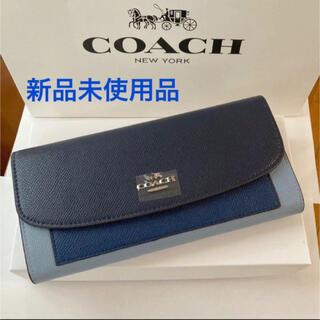 COACH - コーチ長財布F56492 ラグジュアリージオメトリック カラーブロックブルー