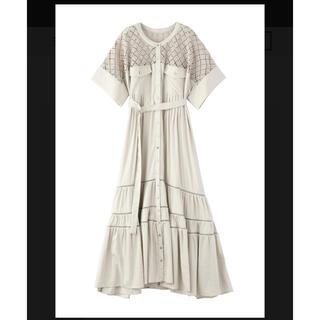 Ameri VINTAGE - BLOCK LACE TIERED DRESS