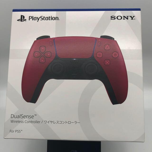 PlayStation(プレイステーション)のきつきつ様専用DualSense ワイヤレスコントローラー コズミック レッド  エンタメ/ホビーのゲームソフト/ゲーム機本体(家庭用ゲーム機本体)の商品写真